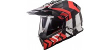 LS2 MX436 Pioneer Xtrem mat black red